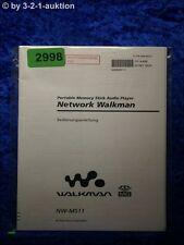 Sony Bedienungsanleitung NW MS11 Network Walkman (#2998)