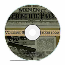Classic Mining and Scientific Press, 1903 - 1922, 1000 Old Issues Vol 3 DVD V35