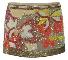 ALL SAINTS CHAZTEC EMBELLISHED FLORAL MINI SKIRT 14 42 £165!