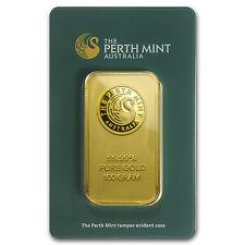 100 gram Gold Bar - Perth Mint (In Assay) - SKU #78889