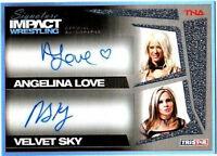 TNA Angelina Love Velvet Sky Dual 2011 Signature Impact Autograph Card SN 44/99
