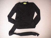 Tate Jolie Shirt Black Size Small Womens New