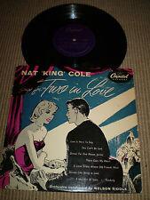 DEUX EN LOVE.25.4cm VINYLE LP,NAT KING COLE 1955,JAZZ,V.G.C expédié SUIVI