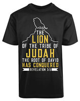 The Lion Of The Tribe Of Judah New Men's Shirt Conquered David Root Summer Tees