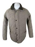 Teen Boys Small Mens Barbour Microfibre Polarquilt Jacket Coat Green Xl 38 chest