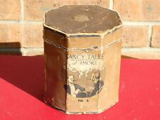 More details for antique fancy tales of smoke no 4 tobacco box with pictorial paper labels empty