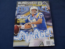 Beckett Football Issue #230 January 2010 Philip Rivers on the cover
