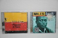 Miles Davis 2 CD Lot Sketches of Spain and The Definitive Jazz Music