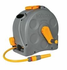 More details for hozelock 2415 compact 2in1 reel 25m hose & fittings free standing / wall mounted