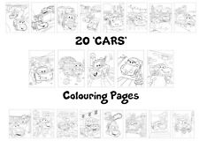 Cars Colouring Pages - 20 Sheets - Perfect for Rainy Days & Holidays!