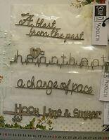 CHIPBOARD Wordlets REMEMBER, MEMORIES etc - 4 Mixed Design Choice Scrap FX W2