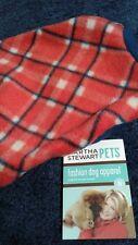 dog sweater/fleece SMALL martha stewart pet clothes red white blue