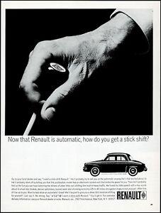1963 Renault Dauphine Economy Sedan Car new automatic retro photo print ad LA7