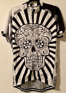 Skull Cycling Shirt Bicycle Clothes Short Sleeve Jersey Sportswear NEW Sz 2 XL