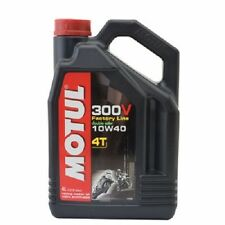 Motul 300V 4T Full Synthetic Motorcycle Oil 10W-40 4 Liter liters 1 one gallon