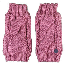 Bench Leyko Woodley Fingerless Acrylic Knit Pink Gloves
