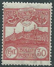 1903 SAN MARINO VEDUTA 30 CENT LUSSO MNH ** - X4