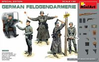 Miniart 1:35 German Feldgendarmerie WWII Era Figures Model Kit