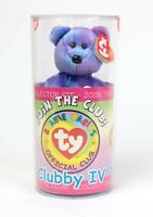 NEW Ty Beanie Babies Bear Clubby IV SEALED In Case w/ Mystery Button
