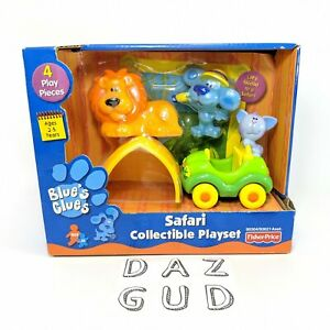 Rare Blues Clues Safari Collectible Playset Periwinkle Vtg Fisher Price 2001