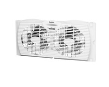"Holmes Dual 6"" Blades Reversible Window Fan Portable Twin Two Speed Adjustable"