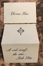 PHANTOM OF THE OPERA Prop Note Sheet USED ON BROADWAY Christine Daae