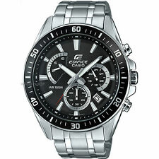 Casio Mens Edifice Premium Silver Chronograph Watch EFR-552D-1AVUEF