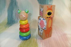 Kaper Kidz Wooden Children's Toddler Toy Cube Puzzle & Stacking Animal Pack!