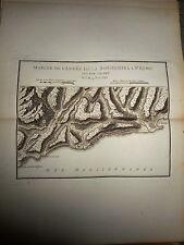 5 - CARTE MAP PLANS Campagne ITALIE 1745 & 1746 Camp BORDIGHERA ST REMO 1775
