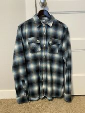 3Sixteen Crosscut Flannel - Shaggy Blue - Size XL