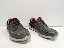 Skechers Men's Relaxed Fit Elent Mosen Shoes Size 11 Gray Black Slip On 65493
