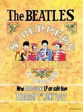 THE BEATLES sgt peppers rétro Affiche MOYEN enseigne en métal