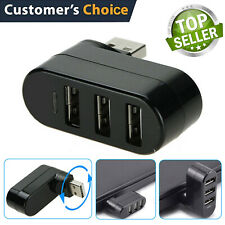 3 Port USB 2.0 Mini Rotate 360° Splitter Adapter Hub for PC Notebook Laptop Mac
