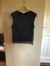 Ladies Stradivarius Black glitter top size S New With Tags