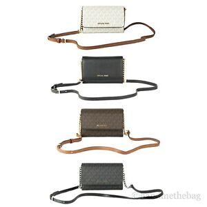 Michael Kors Jet Set Medium Signature Multifunctional Phone Wallet Crossbody Bag