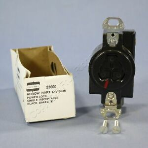 Arrow Hart Power Interrupting Twist Locking Receptacle Outlet 20A 23000 Boxed