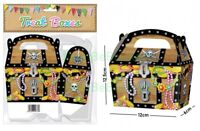 20 Brown Pirate Treasure Chest Party Treat Boxes Cupcake Favour Sweet Gift Box