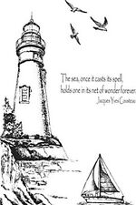 Sweet Dixie Lighthouse Stamp by Sweet Dixie A6 For scrapbook card & crafts