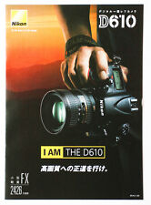 NIKON D610 Brochure   FREE SHIPPING