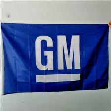 GM Flag Banner 3x5 ft General Motors Wall Garage Blue US Free Shipping