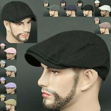 Newsboy Beret LDS BLACK Cabbie Golf GATSBY Flat CAP Fashion Hat