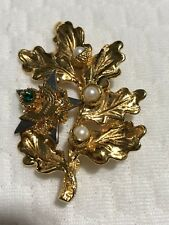 Ann Hand Sterling Silver Clad in 18kt. Gold American Eagle Pin -   ESTATE FIND