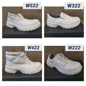 Mens Ladies White Safety Work Shoes Hygiene Food Industry Steel Toe Cap *New*