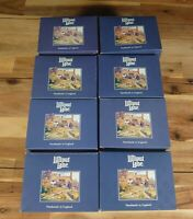 8 Lilliput Lane Models Bundle Blue All Boxed With Original Deeds + Paperwork!