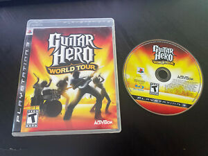 Guitar Hero: World Tour (Sony Playstation 3, 2008)*DISK & CASE ONLY*