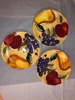 Home Trends VERDONA Fruit - Set of 3 DINNER PLATES