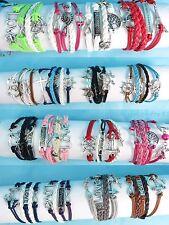$0.7 each, US SELLER -100 pcs wholesale infinity bracelet friendship charm
