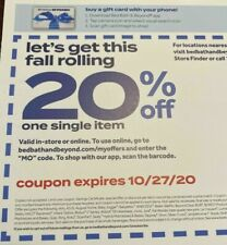 Bed Bath & Beyond 20% Off One Single Item Coupon - Exp 10/27/20