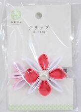 Barrette à cheveux japonaise - Fleur rose - Import Japon 02