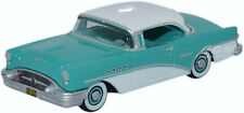 Oxford 1955 Buick Century Turquoise/White Die-Cast Metal Car 1/87 HO Scale